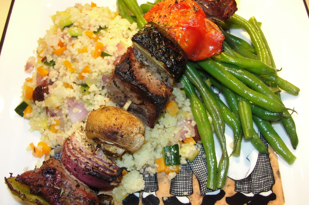 Couscous with Shish Kabob