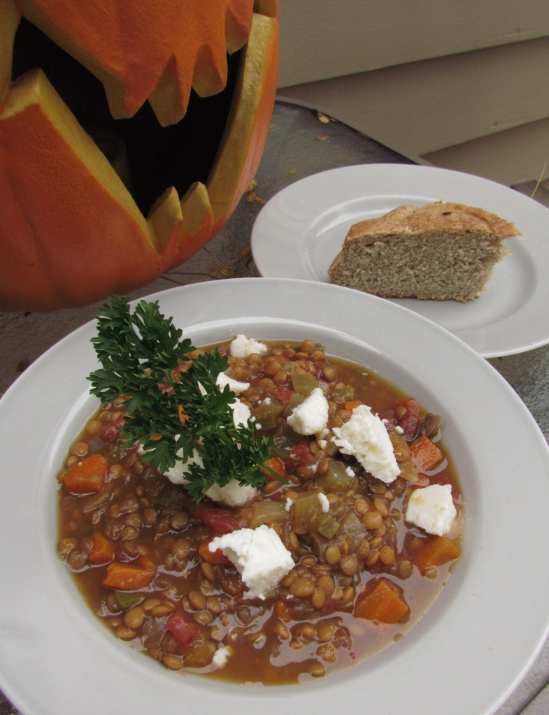 Lentil and Pumpkin Soup